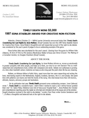 54-1997 : Timely Death wins $3,000