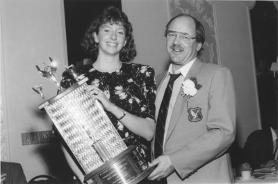 Catherine Foulon and Gary Jeffries at Athletics Awards Banquet, 1989