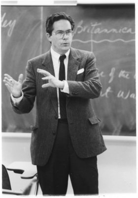 Barry Gough in classroom