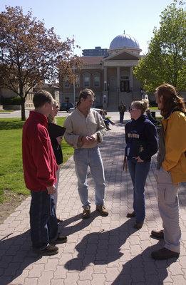 Students in Victoria Park, Brantford, Ontario