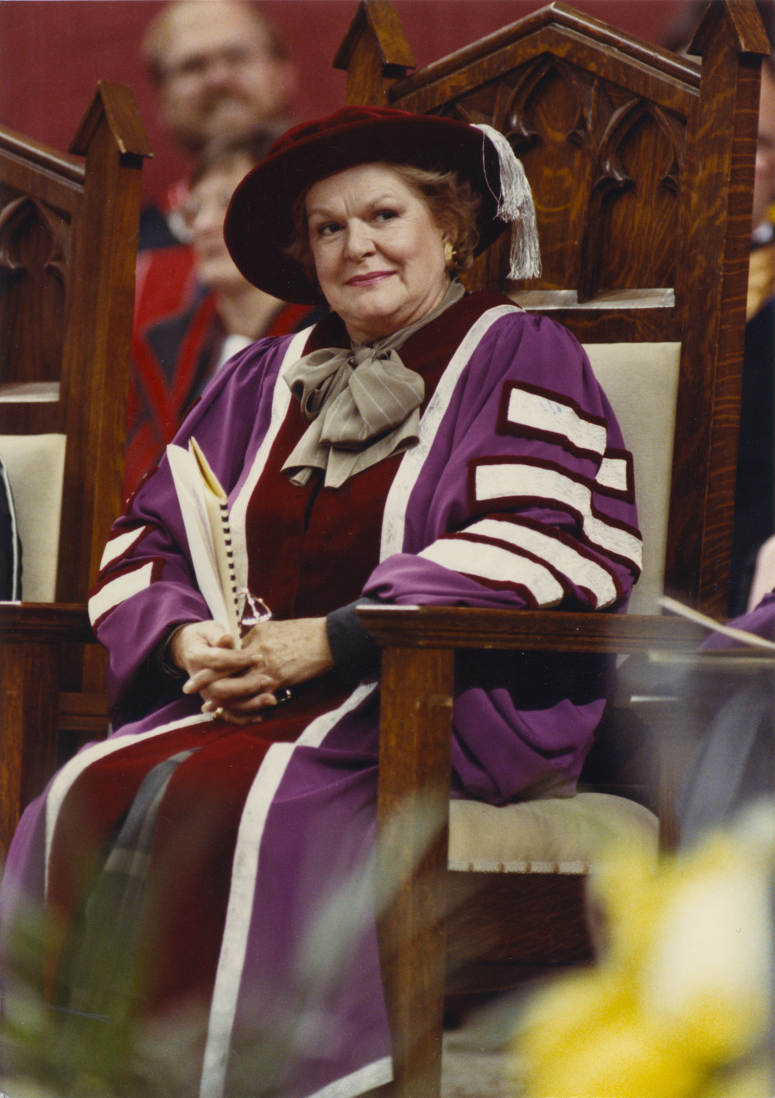 Maureen Forrester at Wilfrid Laurier University convocation ceremony