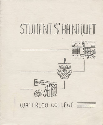 Waterloo College Students' Banquet program, 1955