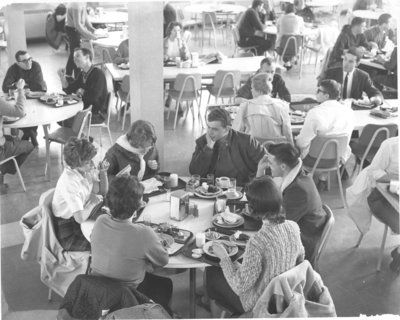 Students in Dining Hall, Waterloo Lutheran University