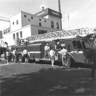 Shinerama fire engine shine-off, 1991