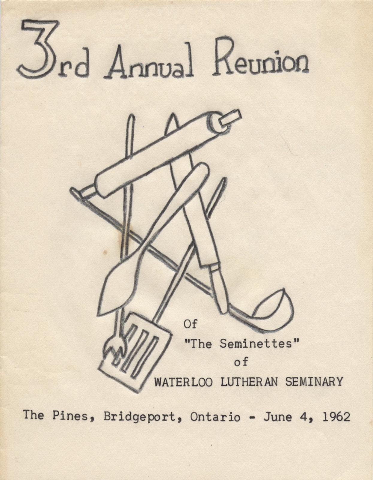 Seminette Club third annual reunion program, 1962