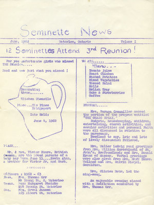 Seminette news, vol. 1, June 1962