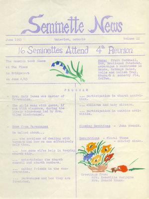 Seminette news, vol. 2, June 1963