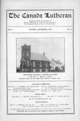 The Canada Lutheran, vol. 1, no. 5, November 1912