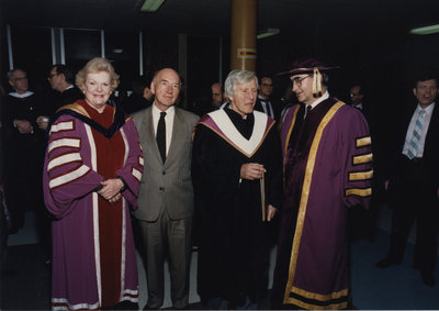 Dignitaries at Wilfrid Laurier University fall 1988 convocation ceremony