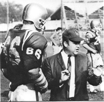 Tuffy Knight and Waterloo Lutheran University football player