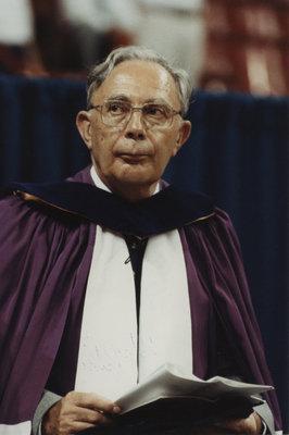 Willi Nassau at spring convocation 1991