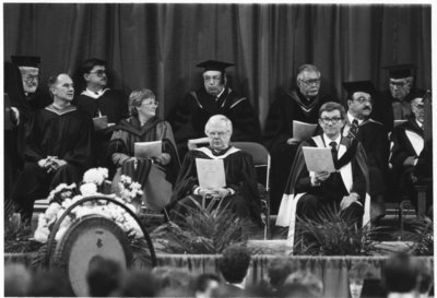 Wilfrid Laurier University fall convocation 1987
