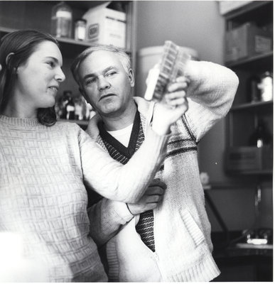 Jerry Hall working with a student at Wilfrid Laurier University