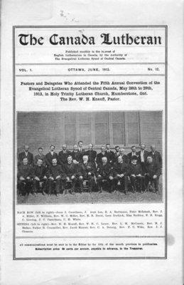 The Canada Lutheran, vol. 1, no. 12, June 1913