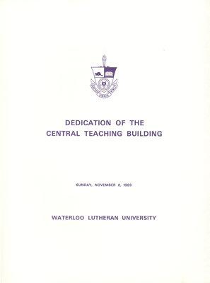 Dedication of the Central Teaching Building program, November 1969