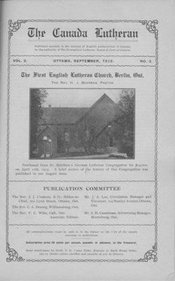 The Canada Lutheran, vol. 2, no. 3, September 1913