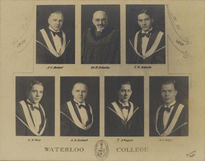 Waterloo College graduating class 1929