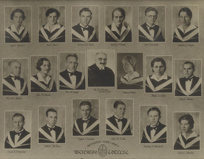 Waterloo College graduating class of 1934