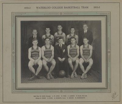 Waterloo College basketball team, 1931-32