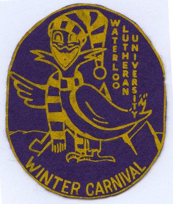 Waterloo Lutheran University Winter Carnival badge