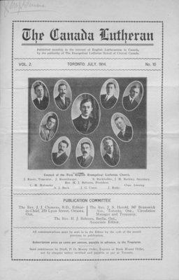 The Canada Lutheran, vol. 2, no. 10, July 1914