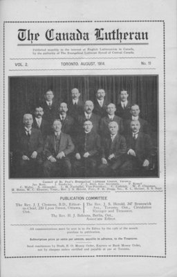 The Canada Lutheran, vol. 2, no. 11, August 1914