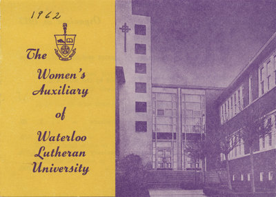 The Women's Auxiliary of Waterloo Lutheran University, 1962