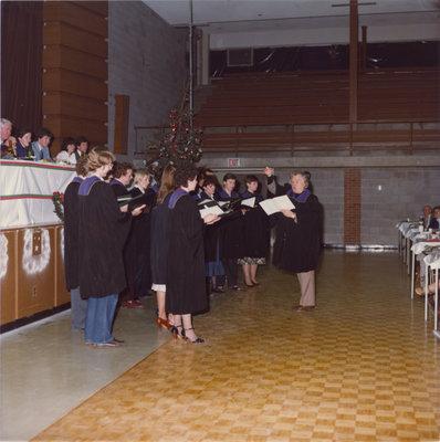 Wilfrid Laurier University Choir at Boar's Head Dinner, 1981
