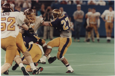 Andy Cecchini during 1991 Vanier Cup game