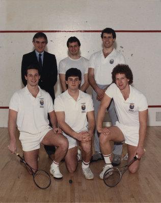 Wilfrid Laurier University men's squash team, 1986