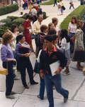 People walking on Wilfrid Laurier University campus