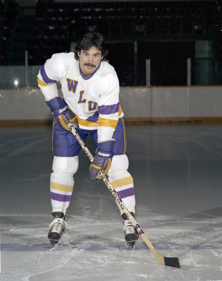 Wilf Rellinger, Wilfrid Laurier University hockey player, 1981