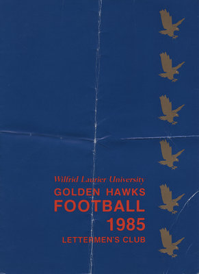 Wilfrid Laurier University Golden Hawks Football 1985 : Lettermen's Club program