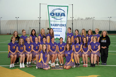 Wilfrid Laurier University women's lacrosse team, 2004