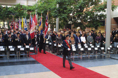 Remembrance Day at Wilfrid Laurier, 2001