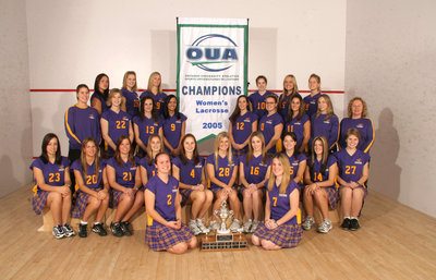Wilfrid Laurier University women's lacrosse team, 2005
