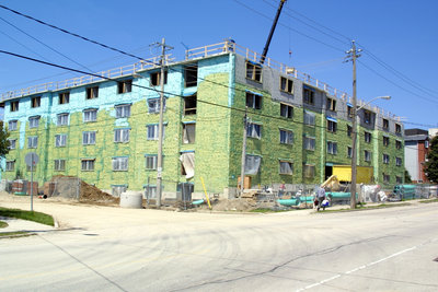 Construction of Waterloo College Hall, Wilfrid Laurier University