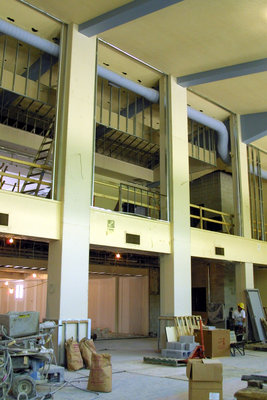 Construction of the Wilfrid Laurier University Dining Hall addition