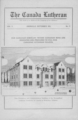 The Canada Lutheran, vol. 3, no. 11, September 1915