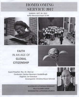 Homecoming Service 2012 program