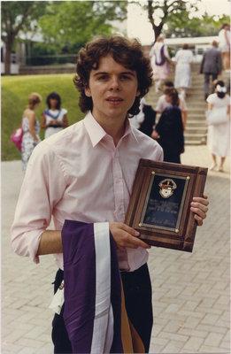 David Black at spring convocation 1987