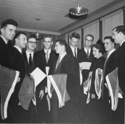 Graduates at 1961 Waterloo Lutheran University convocation