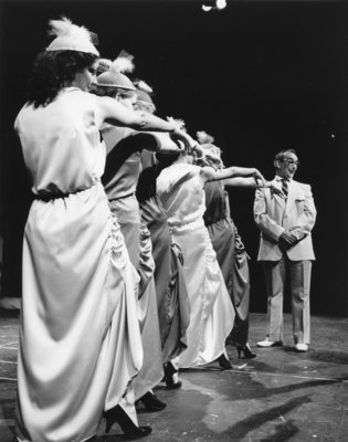 "John Weir on stage during ""Guys and Dolls"""