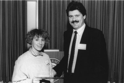 Alumni Award of Merit presentation, 1990