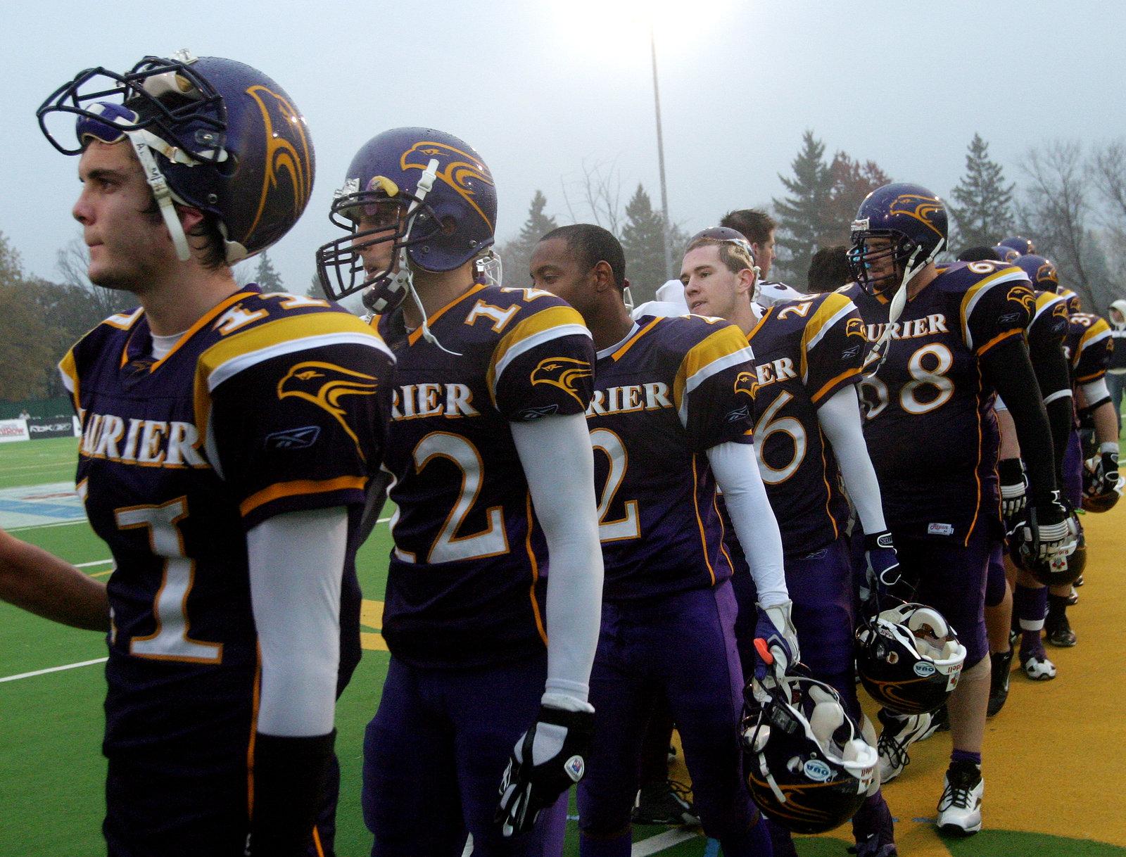 Wilfrid Laurier University football team at Ontario University Athletics (OUA) semi-final game, 2005