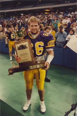 Reinhardt Keller holding the Churchill Bowl