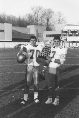 Spiros Anastasakis and Andy Cecchini with Yates Cup, 1991