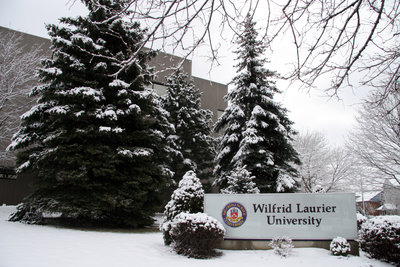 Wilfrid Laurier University sign, 2005