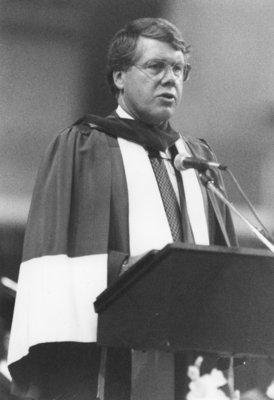 John Cleghorn at convocation