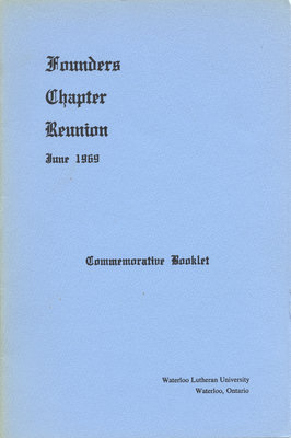 Founders Chapter reunion, June 1969 : commemorative booklet